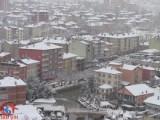 Bozkırda Kar Yağışı Başladı